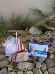Μπομπονιέρες πρωτότυπες. Μπομπονιέρα βάπτισης αγόρι πορτοφολάκι, υφασμάτινο με θέμα ναυτικό χειροποίητο.